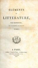 ÉLÉMENTS DE LITTÉRATURE par MARMONTEL - 1825/4 volumes