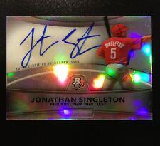 Jonathan Singleton Prospect Autograph Refractor 2010 Bowman Platinum Chrome Auto