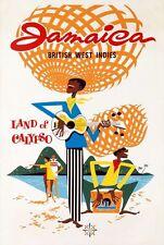 Vintage Jamaica British West Indies Tourism Poster A3 Print