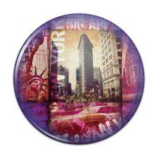 New York City Big Apple Art Collage Compact Pocket Purse Hand Makeup Mirror
