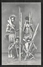 Papua Warriors Spear Bow Arrow New Guinea Indonesia 1907