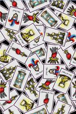 Gothic Tarot Cards Skull Heart Fortune Teller Lycra Printed 4 Way Spandex Fabric