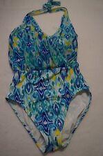 La Blanca Shirr Brilliance Wire Free 3 Way Convertible 1 Piece Swimsuit Blue