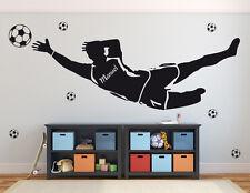 Torwart+Name - Fußballer Kinderzimmer Aufkleber Fußball Wandaufkleber WandTattoo