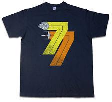 VINTAGE REBEL BORN 77 T-SHIRT - Star Year 1977 Alliance Falcon Wars Fun T Shirt