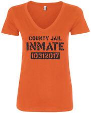 County Jail Inmate 2017 Halloween Costume Women's V-Neck T-Shirt