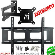 SOPORTE TV PARED LCD LED PLASMA 14 22 26 28 32 40 43 42 47 48 65 GIRATORIO BRAZO