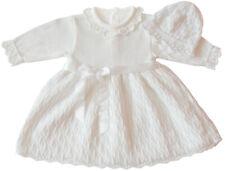 e5208101c9ab2f Taufkleid Strickkleid Festkleid Mädchen Babykleid Baby Taufe gestricktes  Kleid