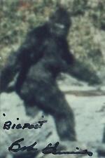 "Bob Heironimus signed auto ""Bigfoot"" Patterson-Gimlin EXTRA RARE COA LOOK!!!"