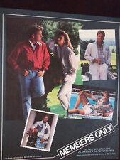 1985 Members Only Clothing Advertisment Best Looking Guys Payne Stewart