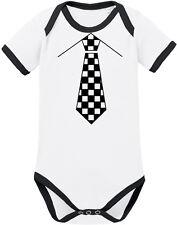 SKA KRAWATTE Ringer Body BIO-Baumwolle, weiß/schwarz von Racker´n´Roll