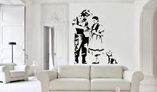 Banksy style Graffiti Dorothy Oz Style Police Vinyl wall art Decal Sticker