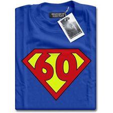 NUOVO SUPER 60 anni di età sessantesimo compleanno Party Top Supereroi Regalo T-Shirt