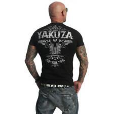 Yakuza T-Shirt Herren TSB 674 Two Colts Klassiker Logo & Motiv Print schwarz