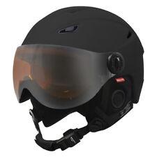 Manbi Park Visor Pro Ski Snowboard Helmet Black CHOICE OF SIZES