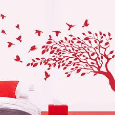 Sticker Géant XXL Arbre et envolée d'oiseaux, 40x59 cm à 70x103 cm (ARB015)
