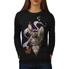 Sphynx Smoke Cool Cat Women Long Sleeve T-shirt NEW | Wellcoda