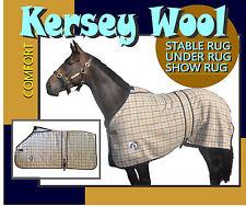 """COMFORT COLLAR CHECK KERSEY WOOLLEN HORSE RUG """"POSTAGE FREE"""""""