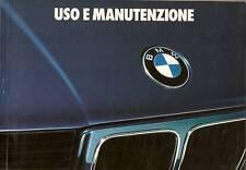 LIBRETTO USO MANUTEN. BMW 518 520i 525e 525i 528i 524td