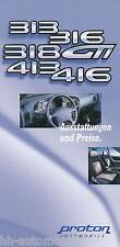 Proton Preisliste 9 99 313 316 318 GTI 413 416 price list 1999 Auto PKWs Preise
