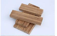 Handle Timber Wood Block Rare Craft Hobby Exotic Unique Tool Knife Zebra Lumber