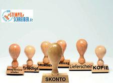 S1F blau Stempelkissen Holzstempel 10 x 35mm Büro Stempel GEBUCHT