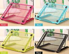 Nuevo 6 ángulos ajustables Cooler Refrigeración Portátil Notebook Tablet Pad Soporte Soporte