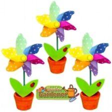 Ladybird gepunktet Blumen Windmühle im Topf dekorativ Neuheit Kinder Mini Garten