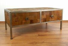 Java,Tisch mit 2 Schubladen,Metall und Teakholz,Beistelltisch,Sideboard
