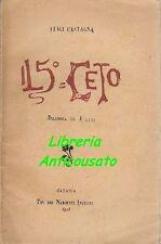 IL 5° CETO dramma 4 atti - Luigi Castagna - Catania Tipografia dei Nascenti 1910