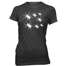 Spider Hallowen womens Ladies Funny Slogan T-shirt