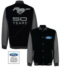 Ford Baseball Varsity Jacket Licensed Mustang 50 Years Cobra Logo A19241