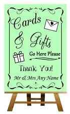 Green Card & Gifts tabella personalizzata Nozze segno / POSTER