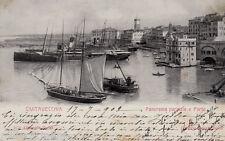 #CIVITAVECCHIA: PANORAMA PARZIALE E PORTO 1902