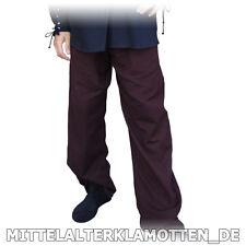 Mittelalterhose, 6 Gr., Holzknöpfe 4 Farben Mittelalter Hose Leinen Look 100% BW