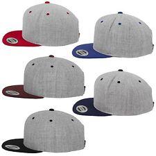 FLEXFIT ® CLASSIC 2-TONE SNAPBACK CAP  Yupoong Baseball Kappe Mütze heather grey