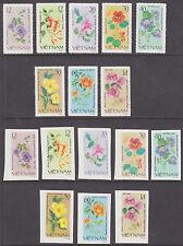 Viet Nam Dem Rep Sc 1098-1105 NGAI. 1980 Flowers, Perf & Imperf sets cplt VF