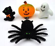 Vintage USA Halloween Deko Figuren Spinne schwarze Katze Gespenst Kürbis