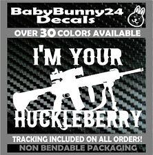 4x2.5 inch Sticker I/'m Your Huckleberry