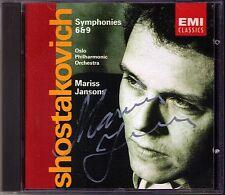 Mariss JANSONS Signiert SHOSTAKOVICH Symphony No.6 & 9 EMI CD Schostakowitsch