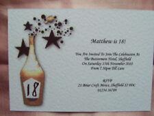 25 BIRTHDAY INVITATIONS PERSONALISED 18TH 21ST 30TH 40th 50th 60th etc CHB