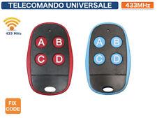 TELECOMANDO 433 MHZ UNIVERSALE DUPLICABILE CODICE FISSO COPIA TELECOMANDO