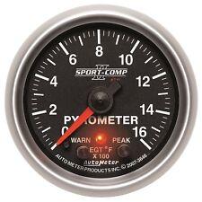 AutoMeter 3646 Sport-Comp II Electric Pyrometer Gauge Kit