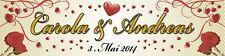 Hochzeitsbanner, Hochzeitsplane, Heirat, Dekoration mit Ösen