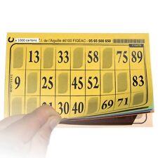 1000 Cartons de Loto FEUILLE Grilles ECO toutes différentes plaques cartes