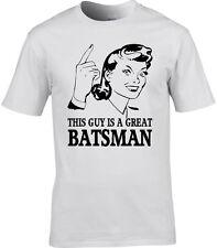 Batsman Mens T-Shirt Gift Idea Occupation Sport Cricket Test Match T20 One Day