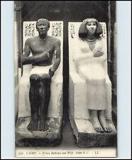 Postkarte Skulpturen ~1920 Prince Rahotpu and Wife in CAIRO Kairo Ägypten Egypt