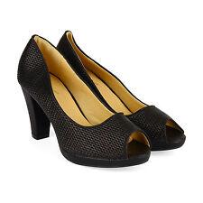 New Womens Ladies Mid High Heels Platform Sandals Peep Toe Sparkly Pumps Size 4