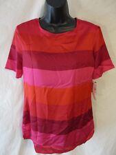 Liz Claiborne Polyester Casual Size S Paris Red Stripe Blouse SR $34 NEW