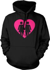 Same Love Women Heart -Lesbian Gay Marriage Equality Mens Hoodie Sweatshirt